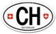 CH is Switzerland's country code for the Euro oval car sticker
